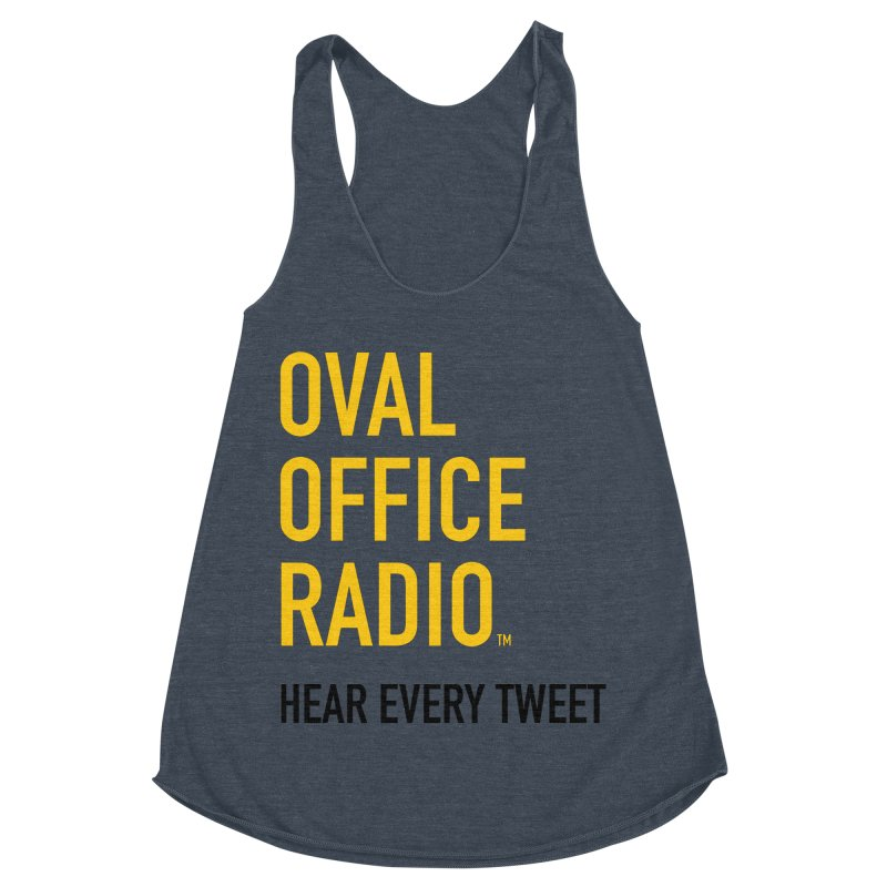 New design, minimalist Women's Racerback Triblend Tank by Oval Office Radio