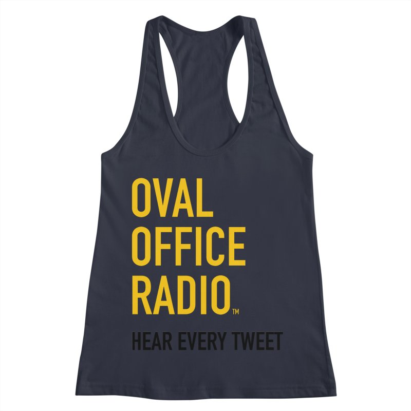 New design, minimalist Women's Racerback Tank by Oval Office Radio