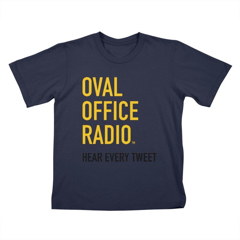 New design, minimalist Kids T-Shirt by Oval Office Radio