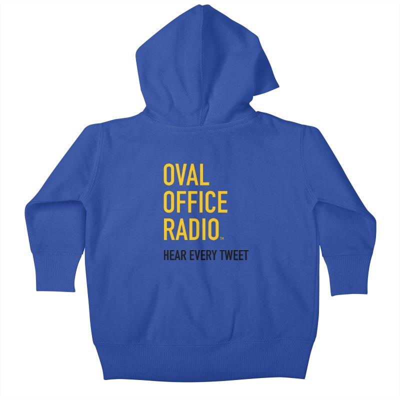 New design, minimalist Kids Baby Zip-Up Hoody by Oval Office Radio