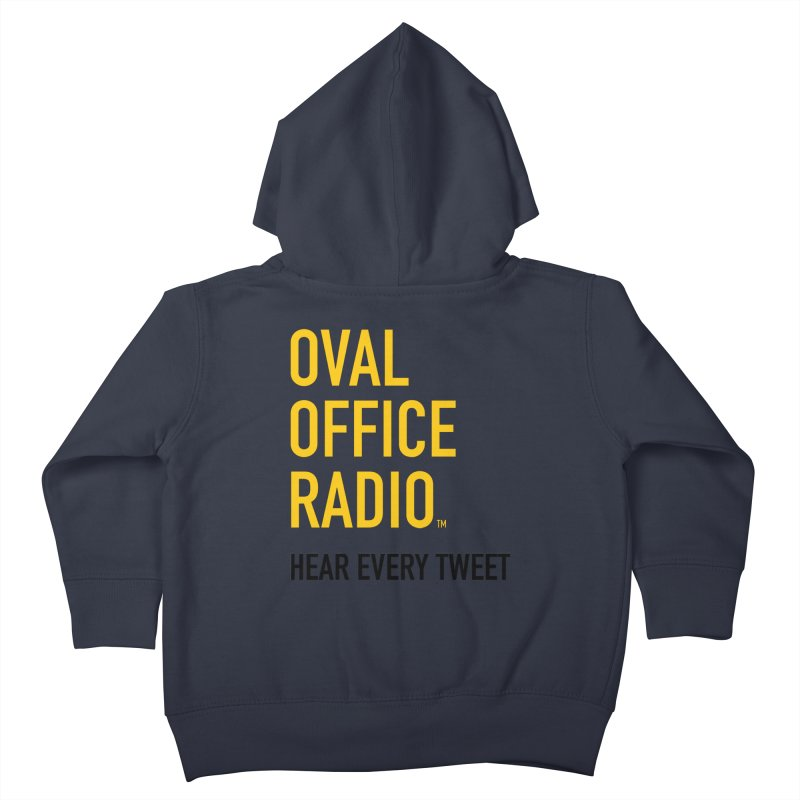 New design, minimalist Kids Toddler Zip-Up Hoody by Oval Office Radio