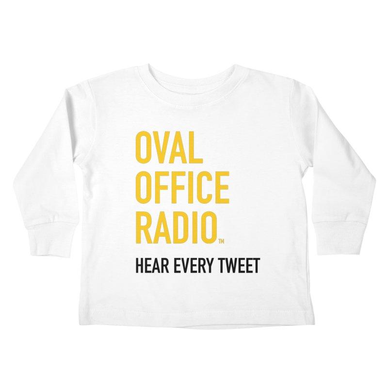 New design, minimalist Kids Toddler Longsleeve T-Shirt by Oval Office Radio