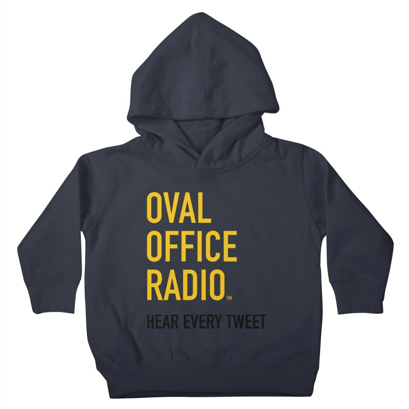 New design, minimalist Kids Toddler Pullover Hoody by Oval Office Radio