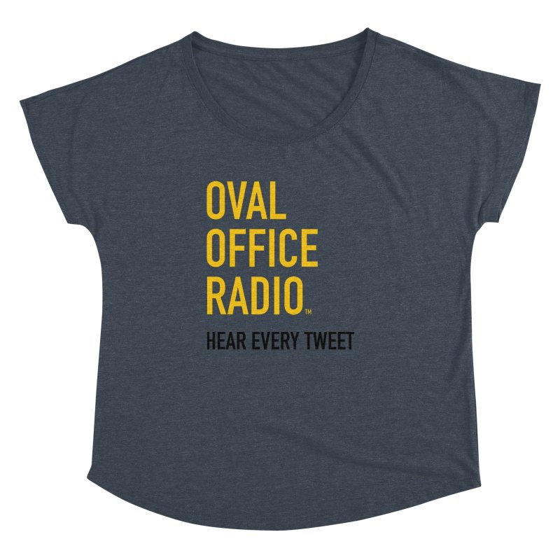 New design, minimalist Women's Dolman Scoop Neck by Oval Office Radio