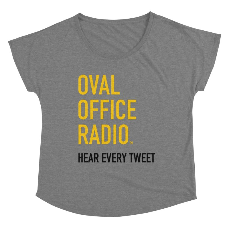 New design, minimalist Women's Scoop Neck by Oval Office Radio