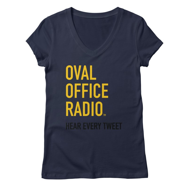 New design, minimalist Women's Regular V-Neck by Oval Office Radio