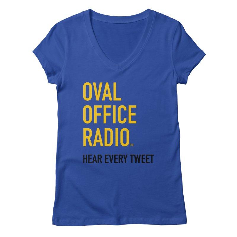 New design, minimalist Women's Regular V-Neck by Oval Office Radio