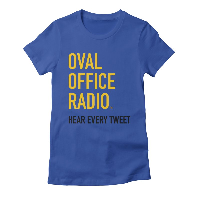 New design, minimalist Women's T-Shirt by Oval Office Radio