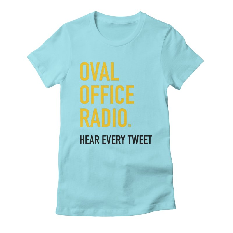 New design, minimalist Women's Fitted T-Shirt by Oval Office Radio