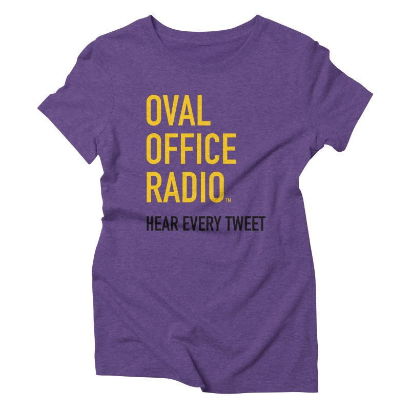 New design, minimalist Women's Triblend T-Shirt by Oval Office Radio