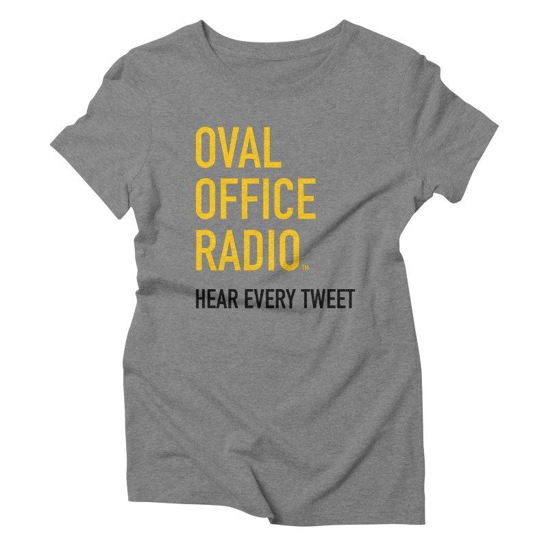New design, minimalist Women's Triblend T-Shirt by Oval Office Radio