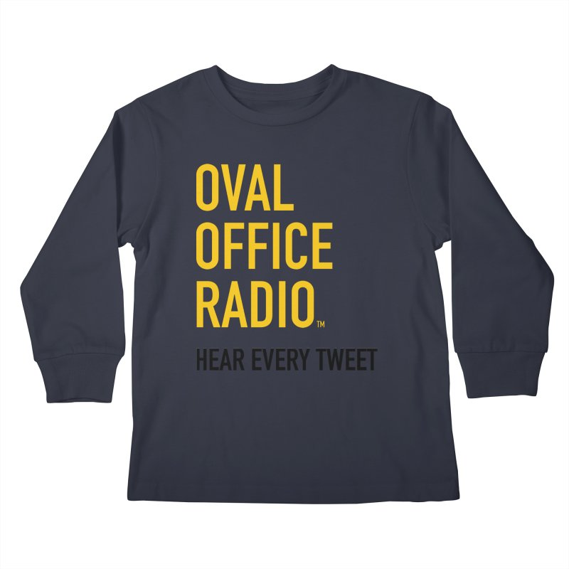 New design, minimalist Kids Longsleeve T-Shirt by Oval Office Radio