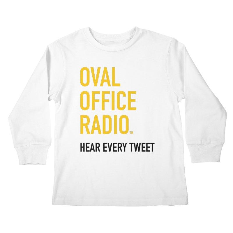 New design, minimalist Kids Longsleeve T-Shirt by Oval Office Radio