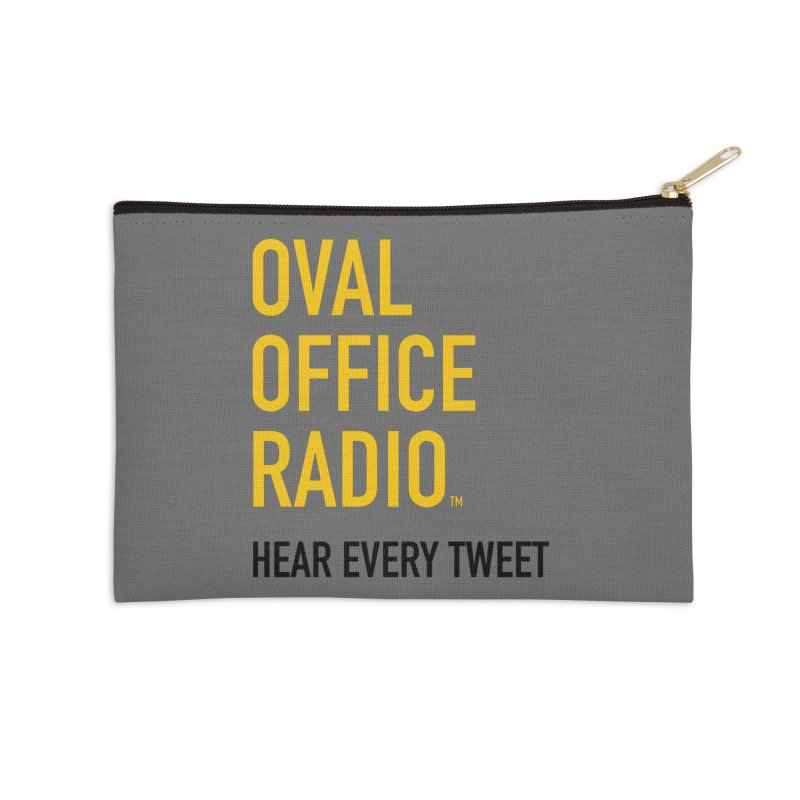 New design, minimalist Accessories Zip Pouch by Oval Office Radio