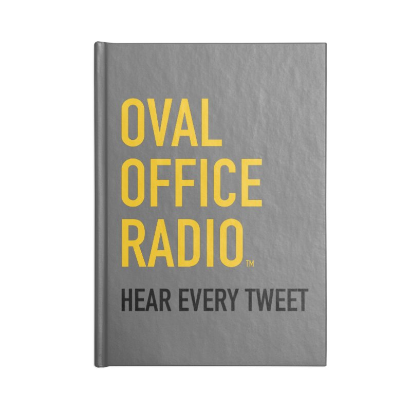 New design, minimalist Accessories Blank Journal Notebook by Oval Office Radio