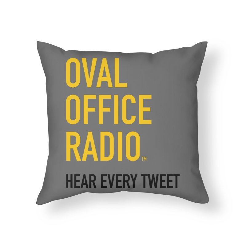 New design, minimalist Home Throw Pillow by Oval Office Radio