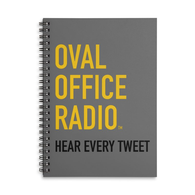 New design, minimalist Accessories Lined Spiral Notebook by Oval Office Radio