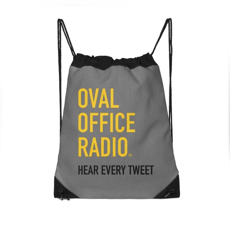 New design, minimalist Accessories Drawstring Bag Bag by Oval Office Radio
