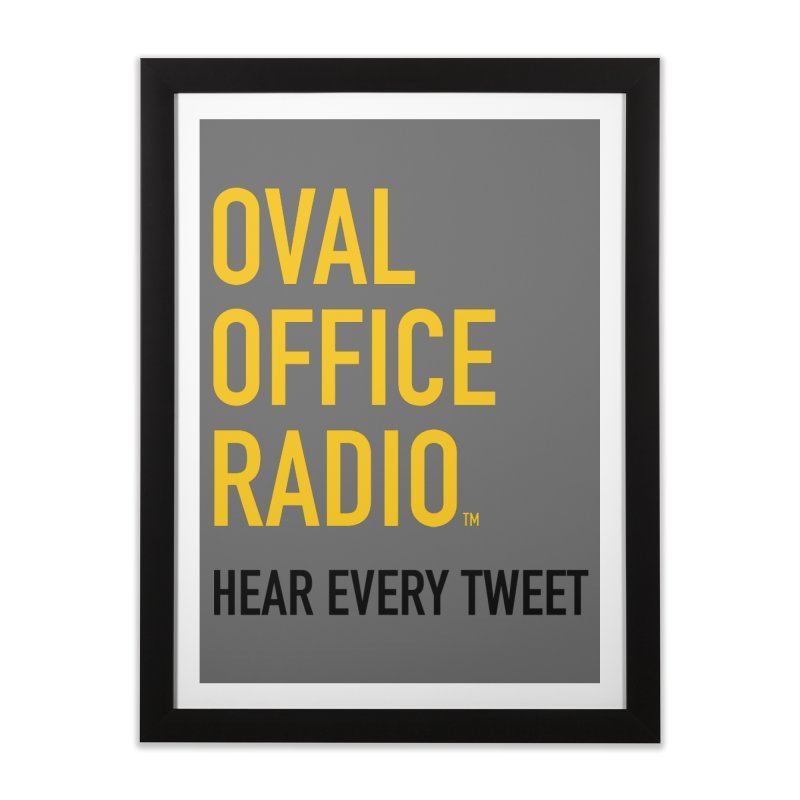 New design, minimalist Home Framed Fine Art Print by Oval Office Radio