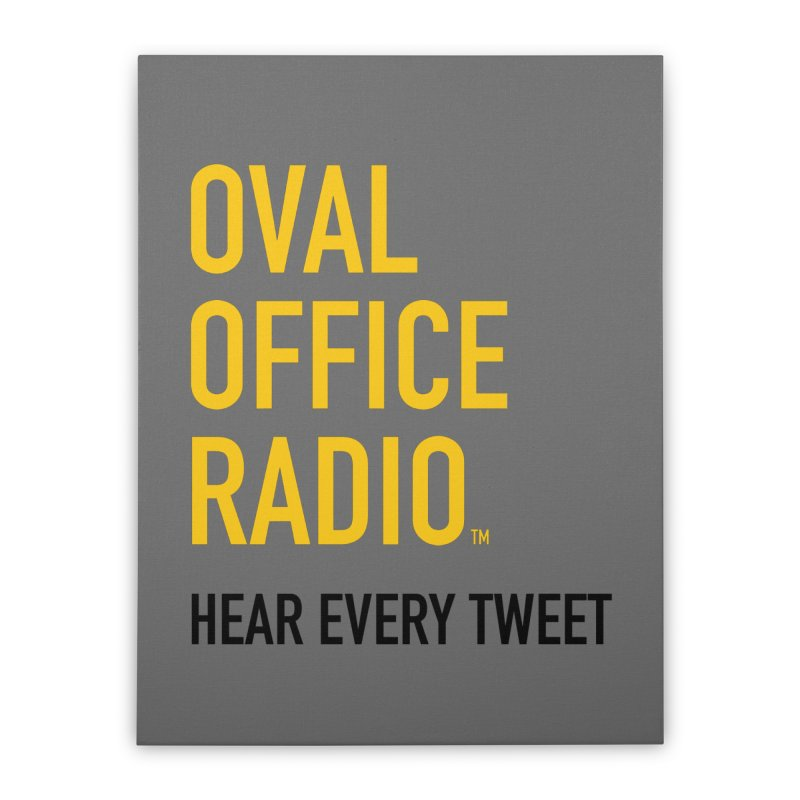 New design, minimalist Home Stretched Canvas by Oval Office Radio