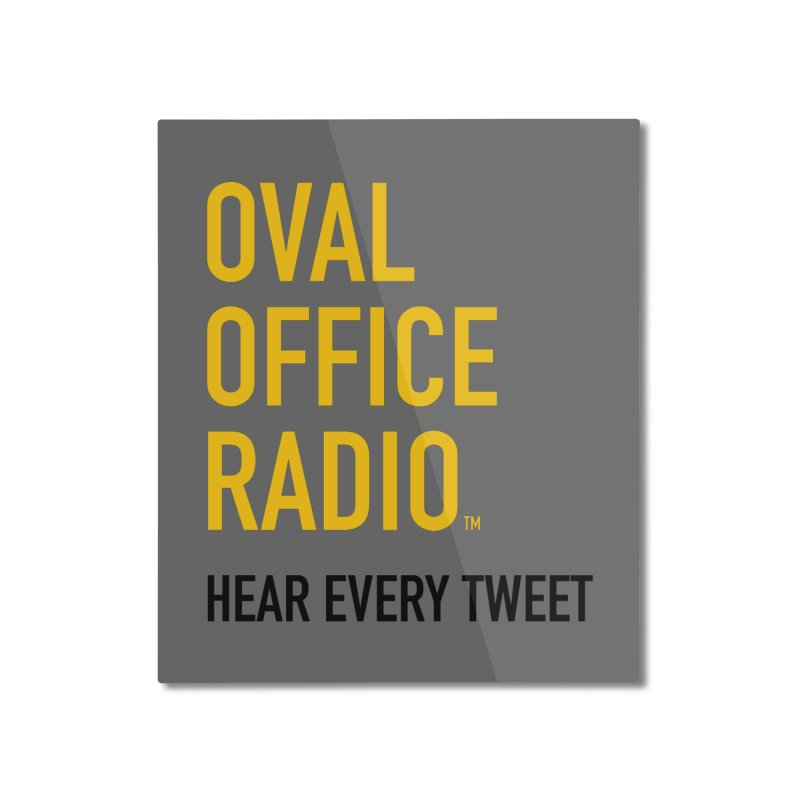 New design, minimalist Home Mounted Aluminum Print by Oval Office Radio