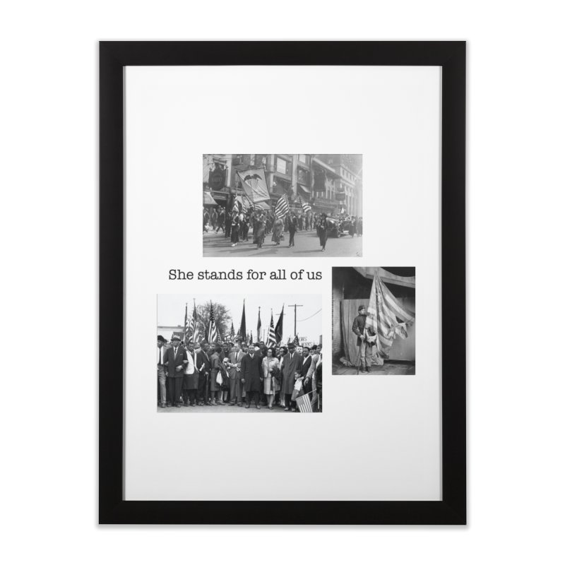 She stands for all of us Home Framed Fine Art Print by Oval Office Radio