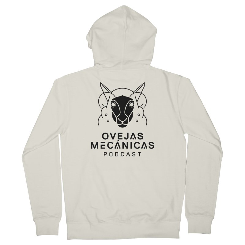 Oveja Blanco y Negro + Logotipo Men's French Terry Zip-Up Hoody by El Esquiladero