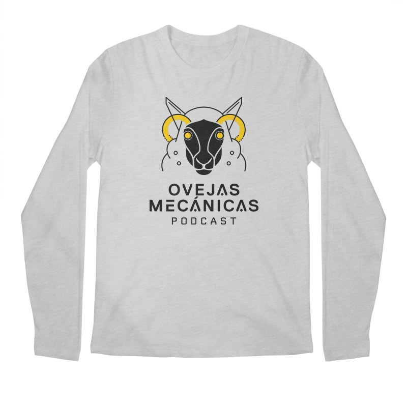 Oveja Mecánica + Logotipo Men's Regular Longsleeve T-Shirt by El Esquiladero