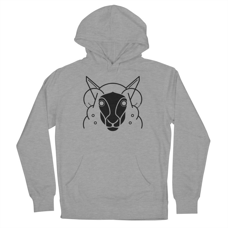 Oveja Blanco y Negro Women's French Terry Pullover Hoody by El Esquiladero