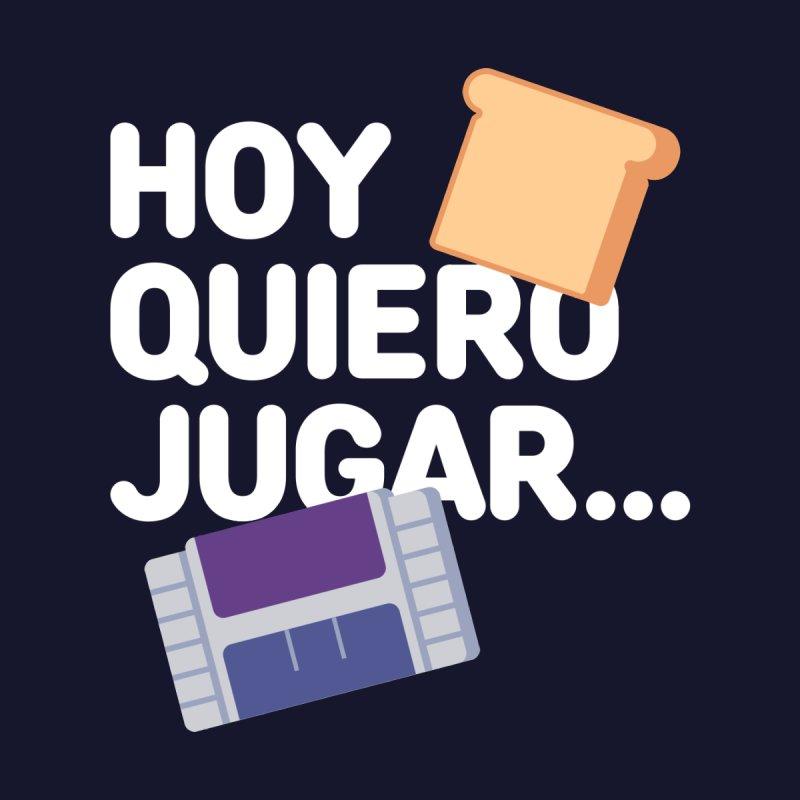 Hoy Quiero Jugar... Men's Pullover Hoody by El Esquiladero
