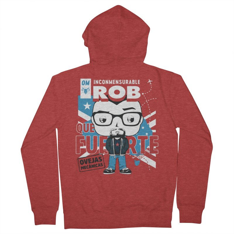 Rob Pop! Núñez Men's French Terry Zip-Up Hoody by El Esquiladero