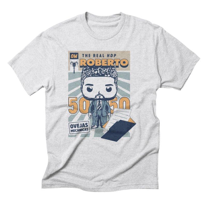 Roberto Pop! Miranda Men's Triblend T-Shirt by El Esquiladero