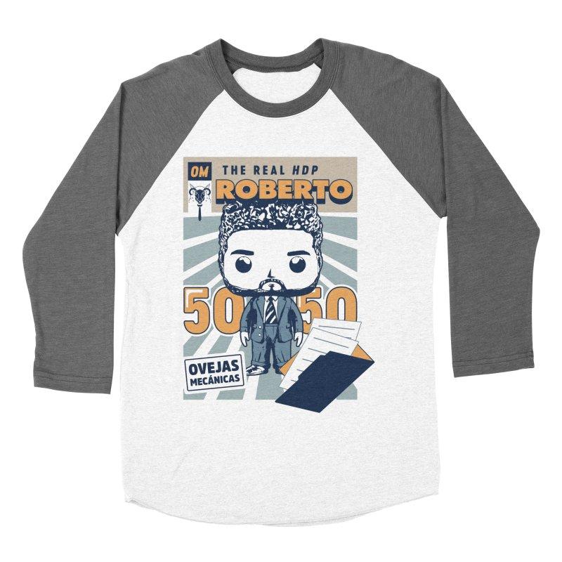 Roberto Pop! Miranda Women's Baseball Triblend T-Shirt by El Esquiladero