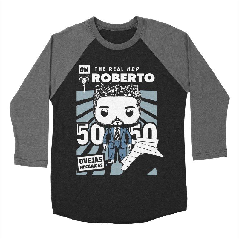 Roberto Pop! Miranda V2 Men's Baseball Triblend Longsleeve T-Shirt by El Esquiladero