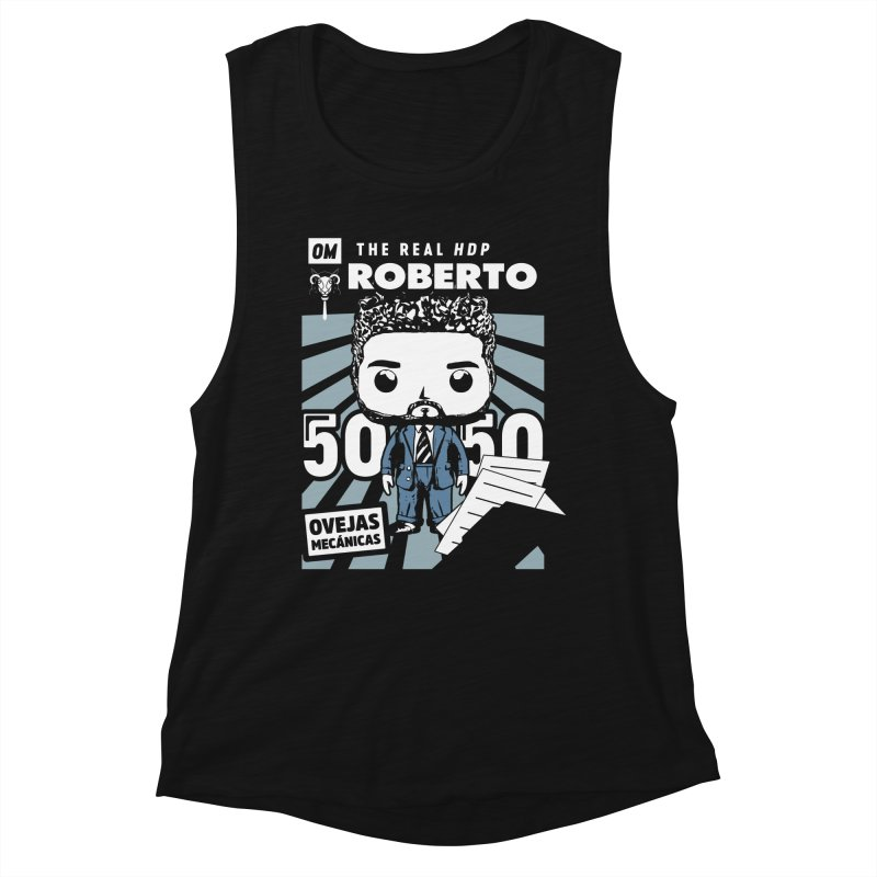 Roberto Pop! Miranda V2 Women's Muscle Tank by El Esquiladero