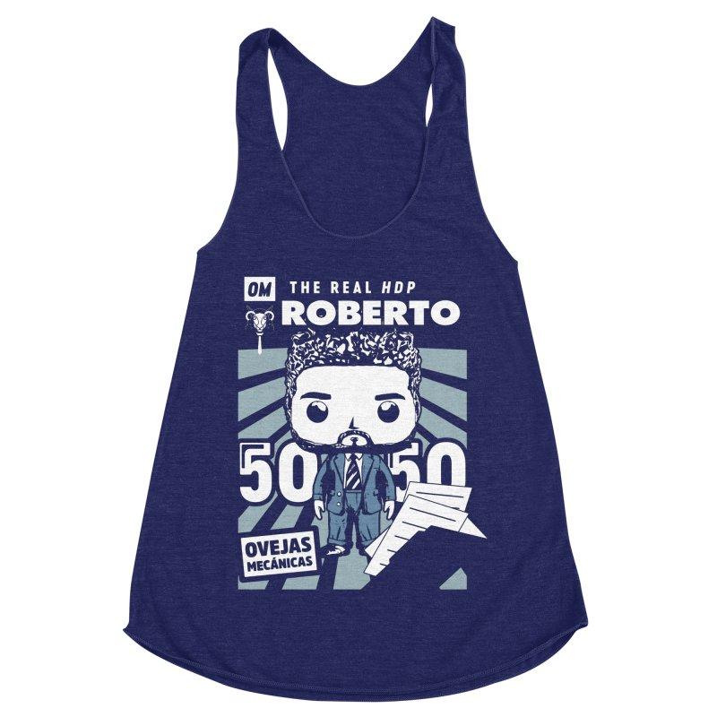 Roberto Pop! Miranda V2 Women's Racerback Triblend Tank by El Esquiladero