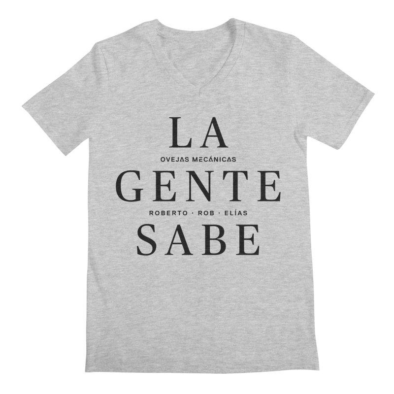 La Gente Sabe... Men's Regular V-Neck by El Esquiladero