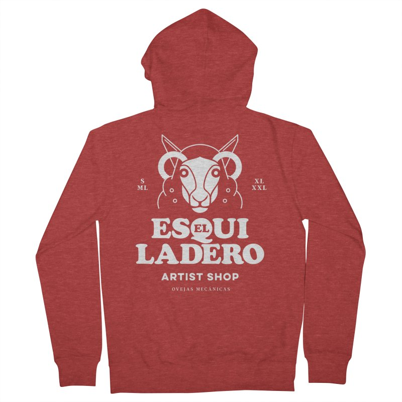 El Esquiladero (Blanco) Men's French Terry Zip-Up Hoody by El Esquiladero