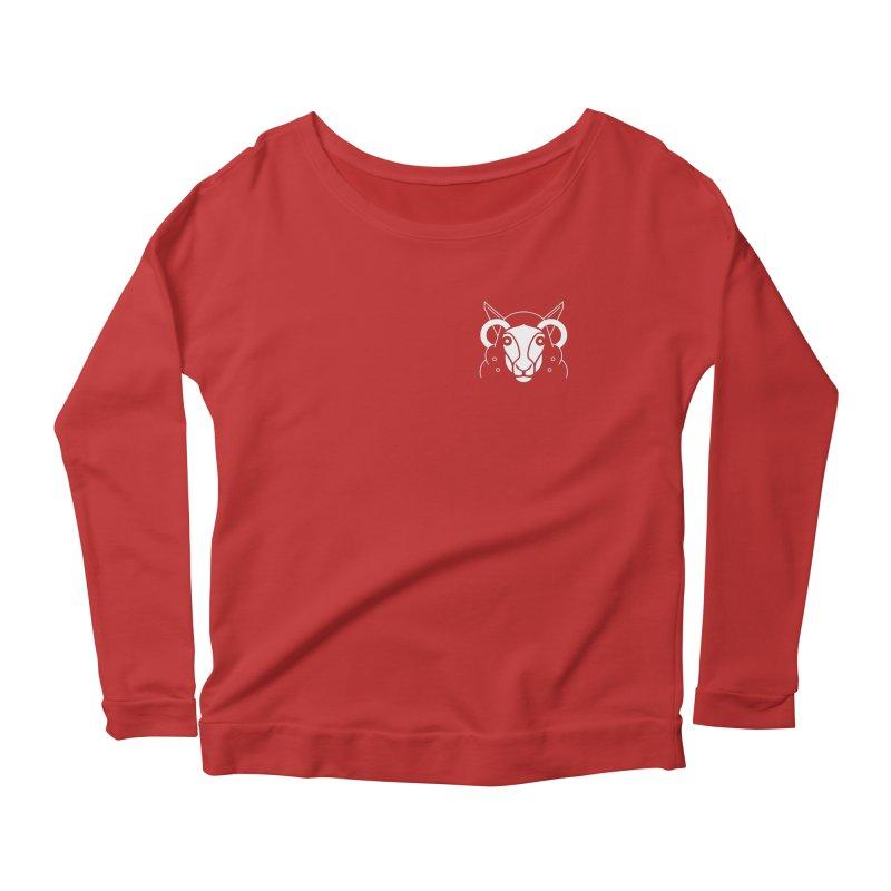 Oveja de bolsillo Women's Scoop Neck Longsleeve T-Shirt by El Esquiladero