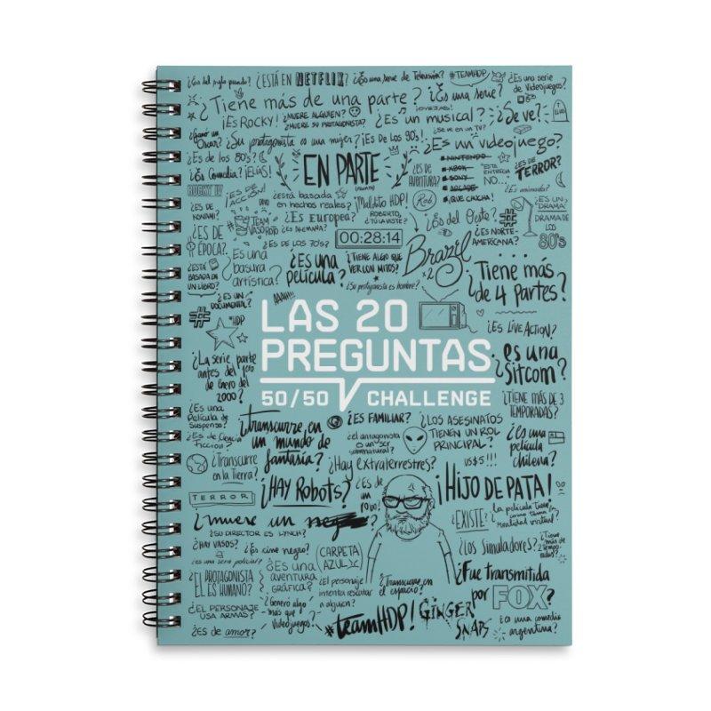 Las 20 preguntas - Frio Accessories Lined Spiral Notebook by El Esquiladero
