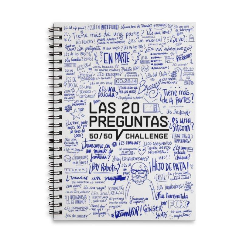 Las 20 preguntas - Bic Accessories Lined Spiral Notebook by El Esquiladero