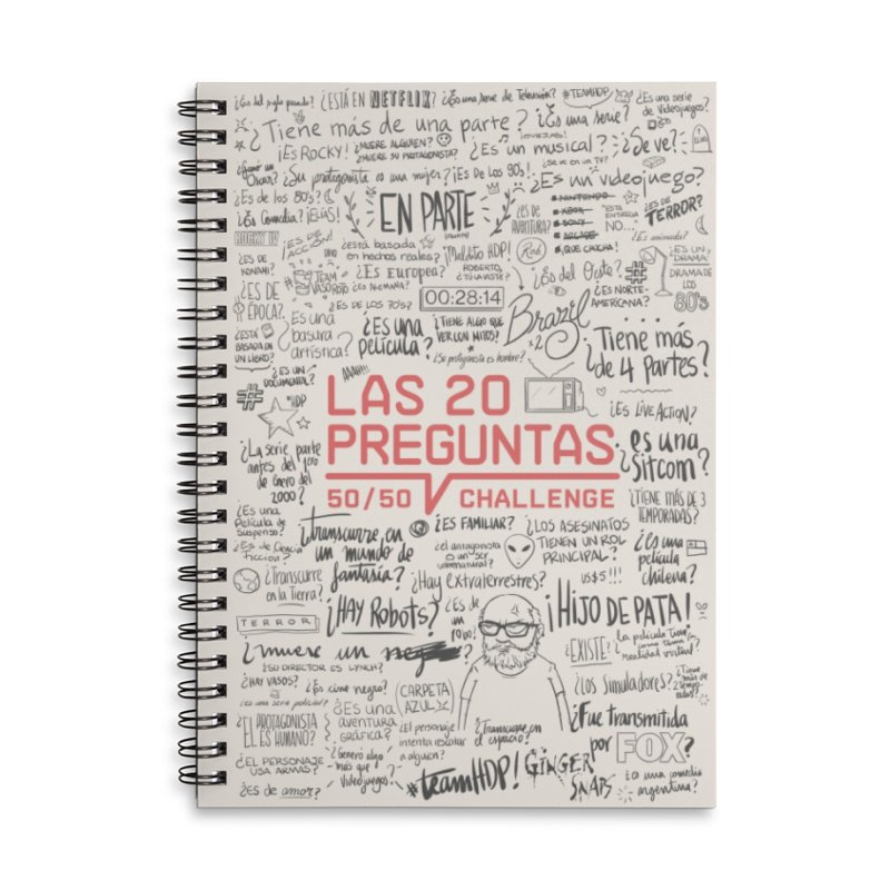 Las 20 Preguntas - Nona Accessories Lined Spiral Notebook by El Esquiladero