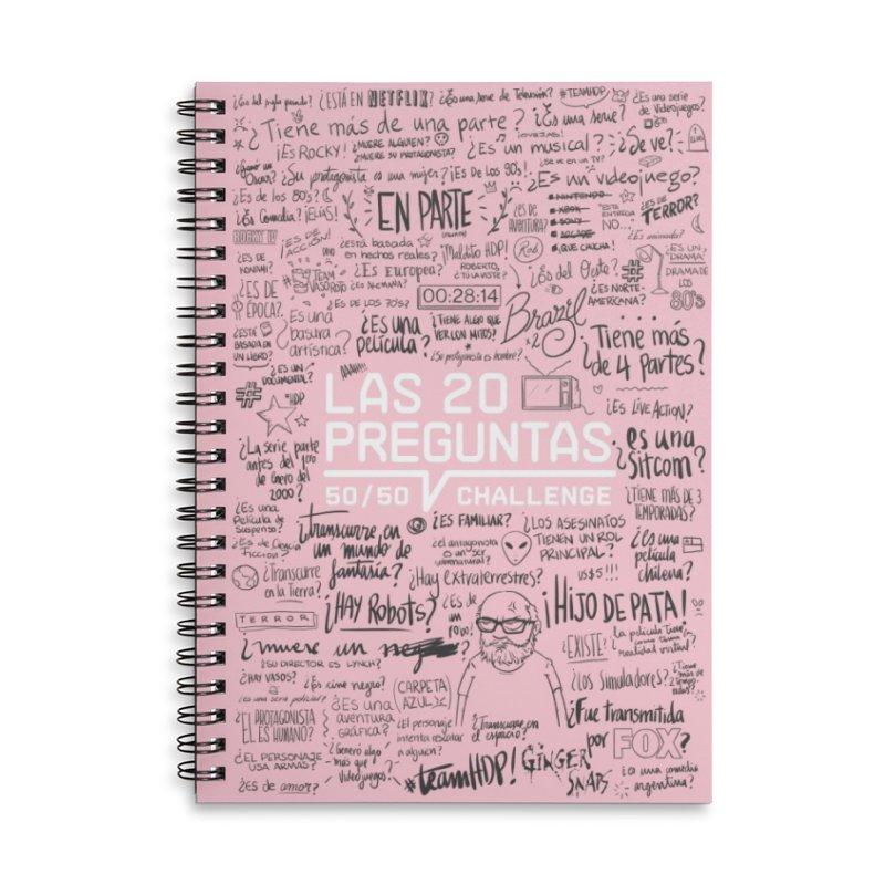 Las 20 Preguntas - Rosalina Accessories Lined Spiral Notebook by El Esquiladero