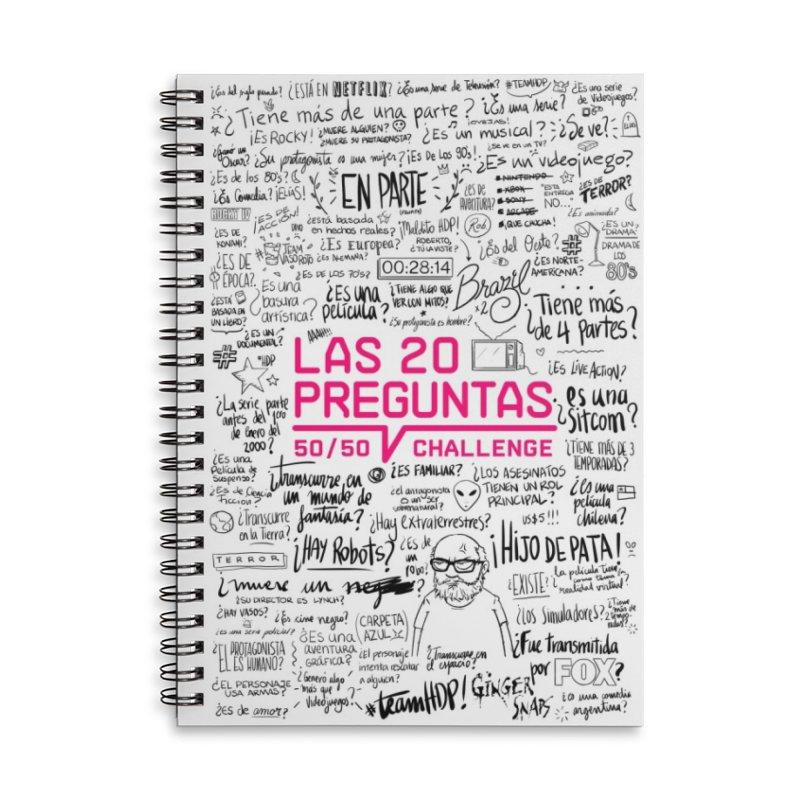 Las 20 Preguntas - Pink Accessories Lined Spiral Notebook by El Esquiladero