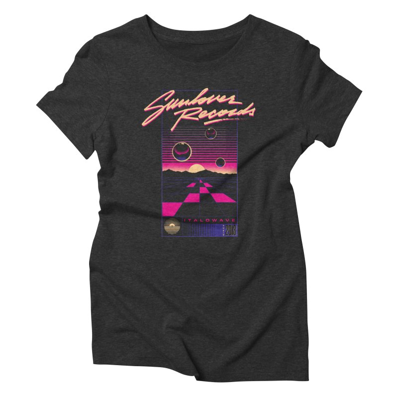SLR - ITALOWAVE GRID Women's Triblend T-Shirt by OVERGLOW 80s shop