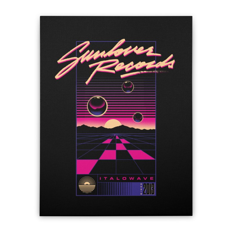 SLR - ITALOWAVE GRID Home Stretched Canvas by OVERGLOW 80s shop