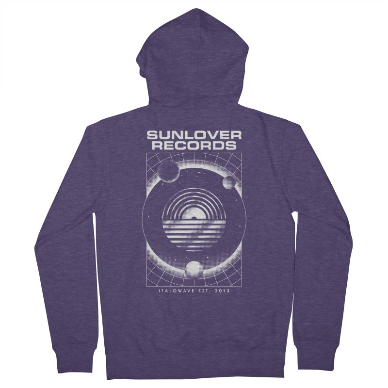 SLR - ITALOWAVE SPACE Men's French Terry Zip-Up Hoody by OVERGLOW 80s shop