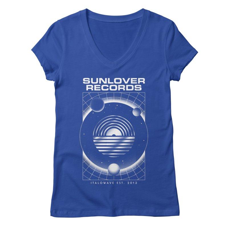 SLR - ITALOWAVE SPACE Women's Regular V-Neck by OVERGLOW 80s shop