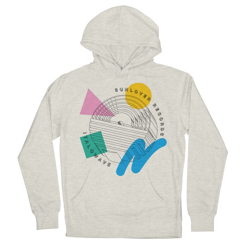 SLR - ITALOWAVE POP Men's French Terry Pullover Hoody by OVERGLOW 80s shop