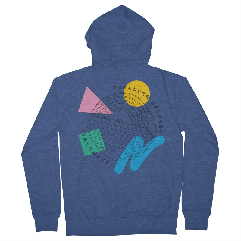 SLR - ITALOWAVE POP Men's French Terry Zip-Up Hoody by OVERGLOW 80s shop